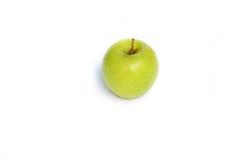 Frutta matura della mela verde su fondo bianco Fotografie Stock Libere da Diritti
