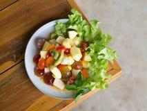 Frutta mista dell'insalata piccante Fotografie Stock Libere da Diritti