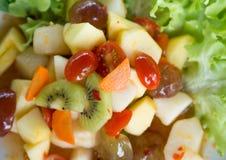 Frutta mista dell'insalata piccante Fotografie Stock