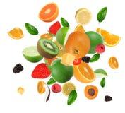 Frutta nell'esplosione Immagini Stock
