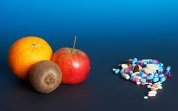Frutta o farmacia Fotografia Stock Libera da Diritti