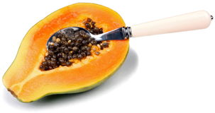 Frutta-Papaia Fotografie Stock