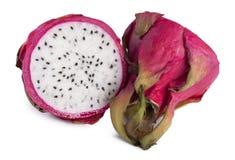 Frutta Pitahaya tagliato dentro a metà Fotografie Stock
