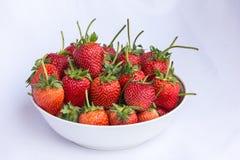 Frutta pulita della fragola rossa fresca Immagini Stock