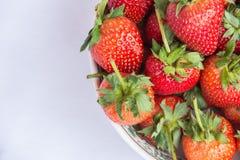 Frutta pulita della fragola rossa fresca Fotografia Stock Libera da Diritti