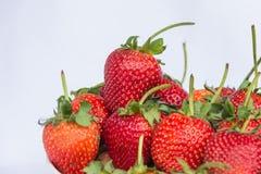 Frutta pulita della fragola rossa fresca Immagine Stock Libera da Diritti