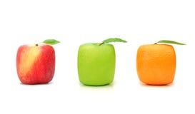 Frutta quadrata Immagini Stock