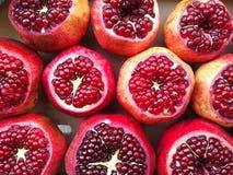 Frutta rossa del melograno Fotografia Stock