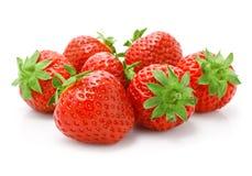 Frutta rossa della fragola isolata su bianco Fotografie Stock Libere da Diritti