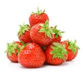 Frutta rossa della fragola isolata su bianco Immagini Stock Libere da Diritti