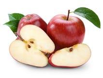 Frutta rossa della mela Fotografia Stock Libera da Diritti