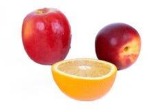 Frutta rossa e gialla Fotografie Stock