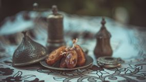 Frutta saporita della palma del dattero secco fotografia stock libera da diritti