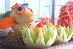 Frutta Scuptures Immagini Stock