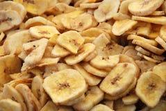 Frutta secca - banana Fotografia Stock