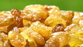 Frutta secca dell'uva passa dell'uva di uva sultanina dell'australiano, alternativa dello spuntino di dieta sana, circondante archivi video