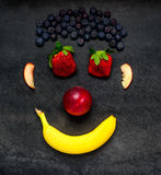 Frutta Smiley Face Fotografia Stock