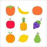 Frutta sopra bianco Fotografia Stock Libera da Diritti