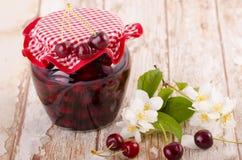 Frutta stufata ciliegia Fotografie Stock Libere da Diritti