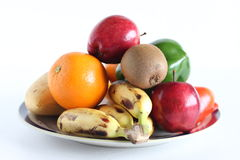 Frutta su bianco Fotografia Stock Libera da Diritti