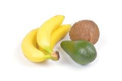 Frutta su priorità bassa bianca Fotografia Stock