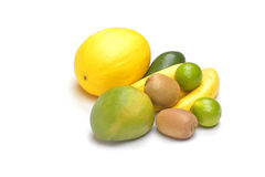Frutta su priorità bassa bianca Fotografie Stock