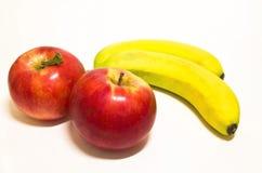 Frutta su priorità bassa bianca Fotografie Stock Libere da Diritti