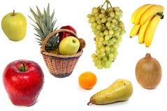 Frutta su priorità bassa bianca immagini stock libere da diritti