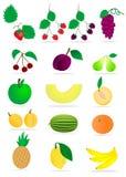 Frutta su priorità bassa bianca Immagine Stock Libera da Diritti