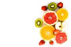 Frutta su una priorità bassa bianca Fotografie Stock Libere da Diritti