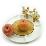 Frutta sul piatto Immagini Stock Libere da Diritti