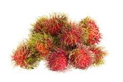 frutta tropicale del rambutan fresco isolata su un fondo bianco fotografia stock libera da diritti