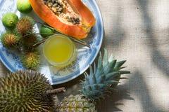 Frutta tropicale fresca Fotografia Stock