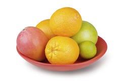 Frutta tropicale in una ciotola fotografie stock