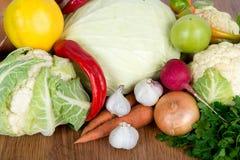 Frutta variopinta e fondo delle verdure Insieme del vegetariano della vitamina Fotografia Stock