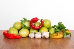Frutta variopinta e fondo delle verdure Insieme del vegetariano della vitamina Fotografia Stock Libera da Diritti