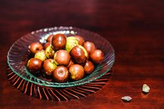 Frutta, verde di colore di marrone della palla della giuggiola fotografia stock libera da diritti