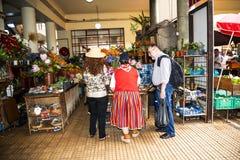Frutta, verdure e fiori nel mercato, il DOS Lavradores di Mercado o il mercato dei lavoratori Fotografie Stock