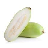 Frutta vulgaris di Lagenaria isolata su fondo bianco Fotografia Stock