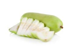 Frutta vulgaris di Lagenaria isolata su fondo bianco Fotografia Stock Libera da Diritti
