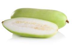 Frutta vulgaris di Lagenaria isolata su fondo bianco Immagini Stock