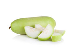 Frutta vulgaris di Lagenaria isolata su fondo bianco Immagine Stock