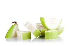 Frutta vulgaris di Lagenaria isolata su fondo bianco Fotografie Stock