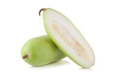 Frutta vulgaris di Lagenaria isolata su fondo bianco Immagini Stock Libere da Diritti