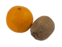 Frutti appassiti su fondo bianco Immagine Stock Libera da Diritti