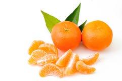 Frutti arancio isolati su fondo bianco Fotografia Stock Libera da Diritti