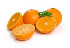 Frutti arancio isolati su un bianco Immagine Stock Libera da Diritti