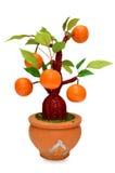 Frutti (artificiali) isolati su fondo bianco Immagini Stock Libere da Diritti