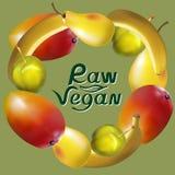 Frutti crudi del vegano royalty illustrazione gratis