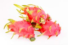 Frutti del drago dentro isolati su bianco Immagini Stock